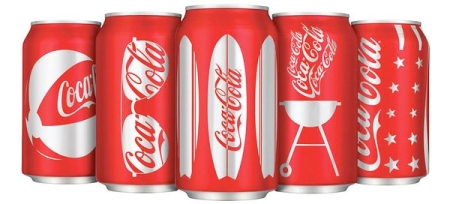 Coca-Cola's new can designs for summer