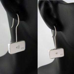 Volume Up & Volume Down Earrings