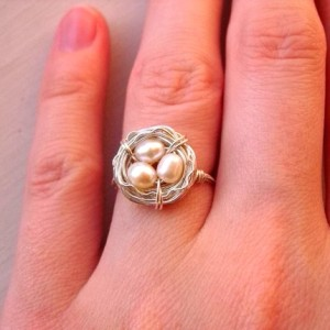 Bird's nest ring by CircesHouse sells for $22.50