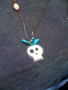 Skull necklace from Amuck Design