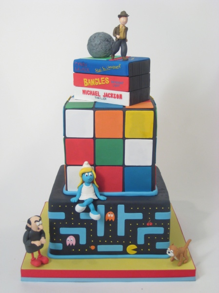 80s cake via gamefreaks