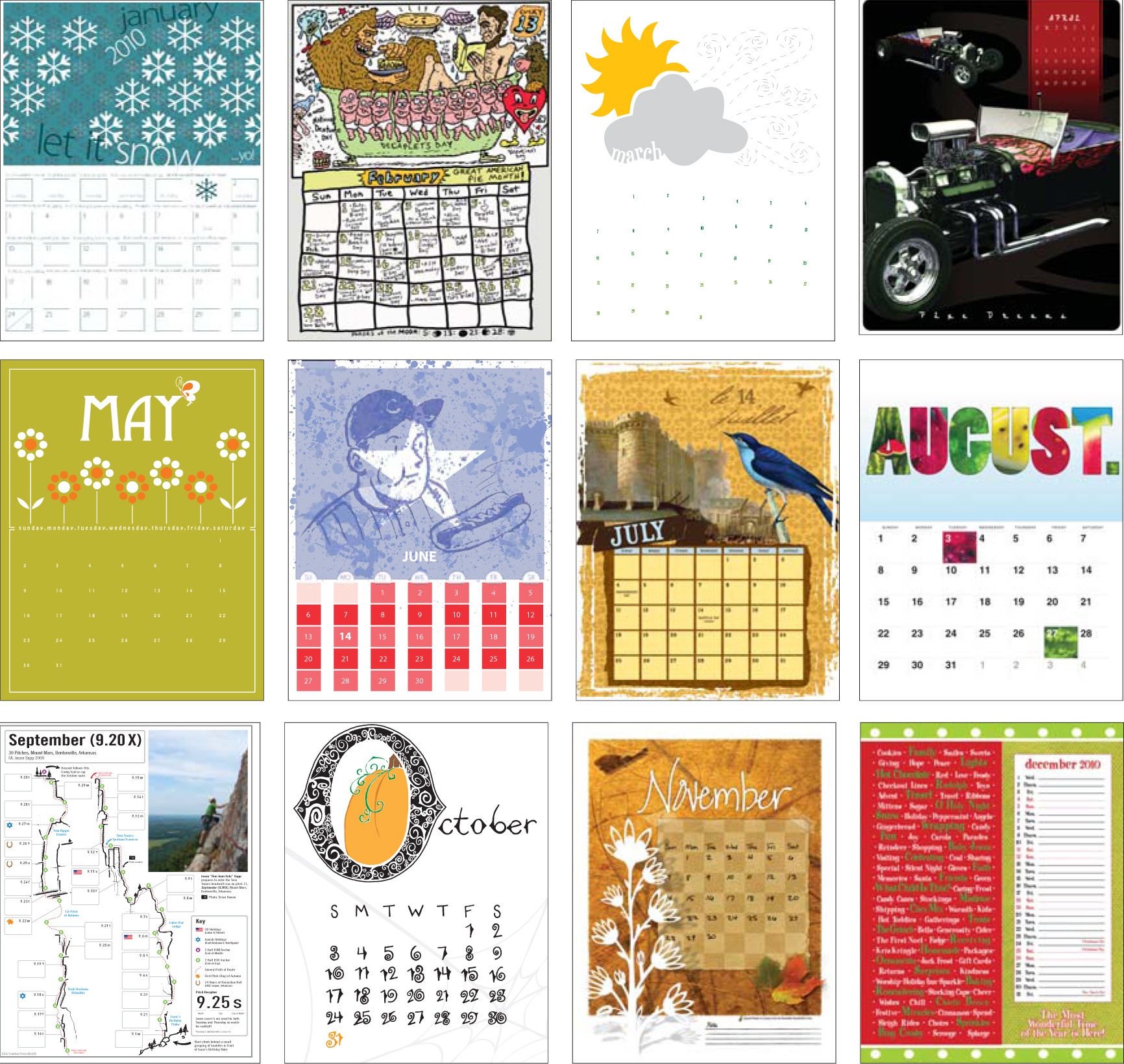 Calendar Design Letters : Fonts design deep fried creative