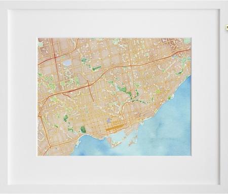 Map It in Watercolors